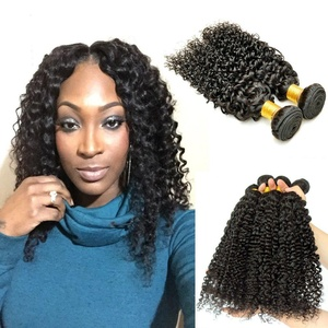 2 Bundle Deals: Babe Hair Afro 7A Curly Weave 100% Human Hair Weft Extensions Unprocessed Black 100g/pc (12 12 Inches, Natural Color - Brazilian)