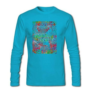 Abstract Animal Collective for Men Printed Long Sleeve Cotton T-shirt