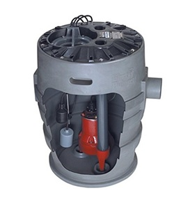 Liberty Pumps P382LE51V-2/A2-EYE 1/2 hp Pre-Assembled Simplex Sewage System with NightEye Technology, 25' Cord and 2