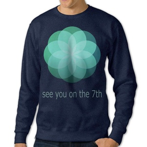 NUBIA Men's See You On The 7th Long Sleeve Hooded Navy L