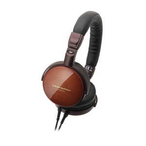 Audio-Technica ATH-ESW990H Headphones with mic, remote (Sycamore wood)