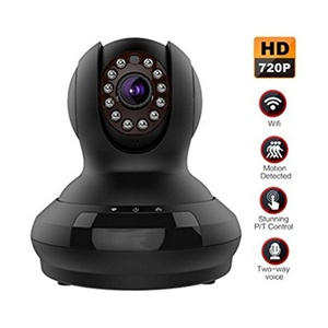 Komrt Wireless WiFi Cloud IP Surveillance Camera 720P HD with Speaker Pan Tilt Motion Detect Alert Night Vision with Remote Monitoring SD card Video Recording Live Streaming Smart Home(Black)