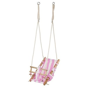 New Classic Toys Cotton Baby Swing (Pink/White) by New Classic Toys