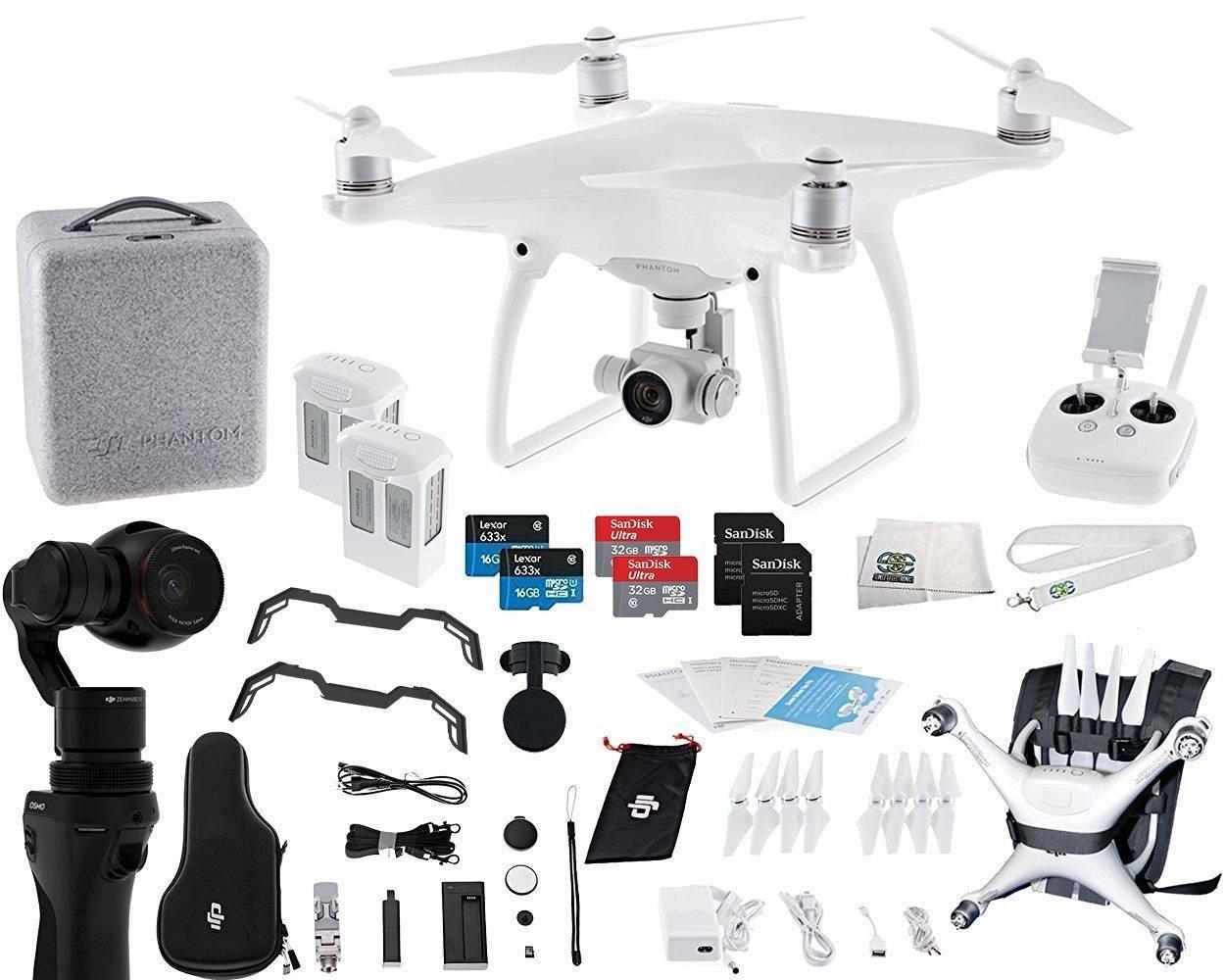 DJI Phantom 4 Quadcopter + Osmo Videographer Essential Travel Bundle