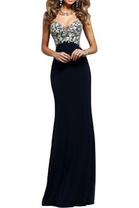 Vienna Bride Special Sweetheart Long Strapless Formal Gown Sheath Party Dress-6-Black