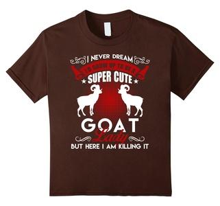 Kids Goat Shirt - Goat Lady Shirt 6 Brown