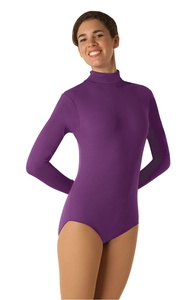 Capezio Long Sleeve Turtleneck Leotard with a Snap and Zipper
