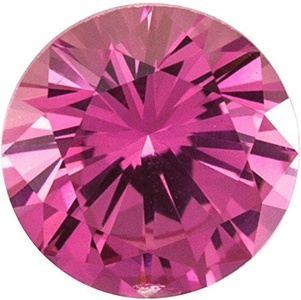 Natural Precision Cut Pink Sapphire Gemstone, Round Shape, Grade AAA, 3.50 mm in Size, 0.2 Carats