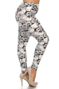 Leggings Depot Ultra Soft Women's Popular BEST Printed Plus Fashion Leggings Batch7 (R505-PLUS)