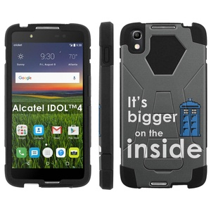 Alcatel One Touch IDOL 4 [Nitro 4/49] Phone Cover, Blue Box - Black Hexo Hybrid Armor Phone Case for Alcatel One Touch IDOL 4 [Nitro 4/49]