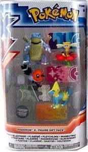 Pokemon XY TOMY Basic Figure 4-Pack Blastoise, Flabebe, Fletchling & Manectric by Pokemon XY Toys, Action Figures, Playsets & Plush