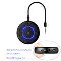 Bluetooth 4.1 Wireless Audio Transmitter Receiver Aptx Low Latency, Kobwa 2 in 1 Bluetooth Receiver 3.5mm Jack Stereo Adapter For Car Radio Home Stereo
