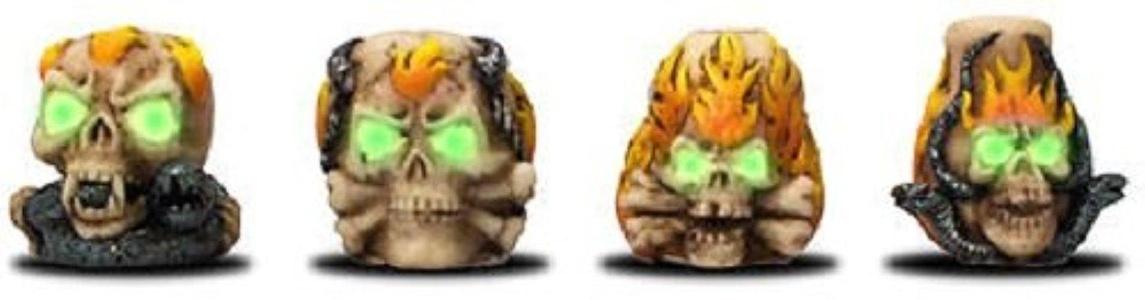 4 x Skull Glow In The Dark Tobacco Cigarette Snuffers // Assorted Designs