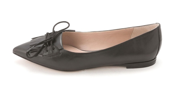 French Connection Womens GENEVA Pointed Toe Ballet Flats, Black, Size 6.5