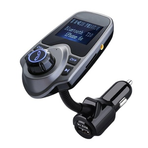 FM Transmitter ZOCO Wireless Bluetooth FM Transmitter Car Kit Radio Receiver with 5V/2.1A USB Charger output Support USB Flash Driver and Micro SD Card AUX output and input
