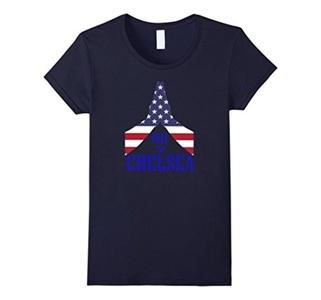 Women's PRAY FOR #CHELSEA TSHIRT - #CHELSEA STRONG- 100% COTTON Medium Navy