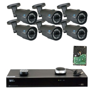 8 Channel H.265 NVR 6 x 4 M Pixel 2.8~12mm Lens IP Security Camera 4T HD