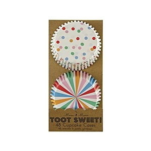 Meri Meri Toot Sweet Spotty Cupcake Cases 48 per pack - Pack of 2