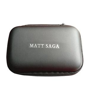 Portable EVA Carrying Case Pouch MATT SAGA Carrying Hard Case for iPod MP3 Earphone Headphone (Black)