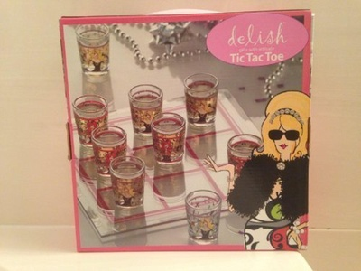 Drinking Girls Tic Tac Toe Shot Glass Game Set by Gifts with Attitude Tic Tac Toe