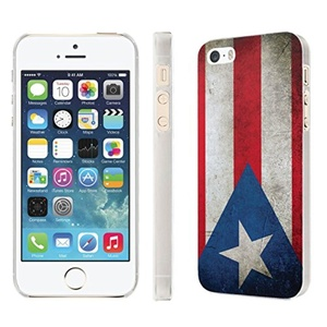 iPhone [SE/5/5S] Phone Case [NakedShield] [Clear] Ultra-Slim Jacket Cover Case - [Flag Puerto Rico] for iPhone [SE/5/5S]