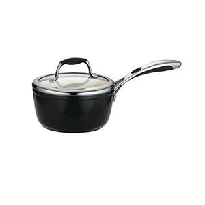 Tramontina 80110/024DS Gourmet Ceramica 01 Deluxe Covered Sauce Pan, 1.5-Quart, Metallic Black by Tramontina