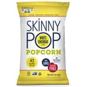 SkinnyPop White Cheddar Popcorn, 1 Ounce -- 12 per case.