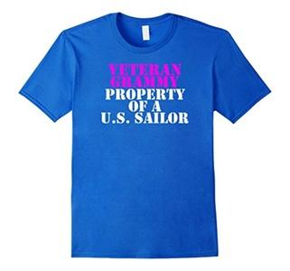 Men's Veteran Grammy - Property of a U.S. Sailor 2XL Royal Blue