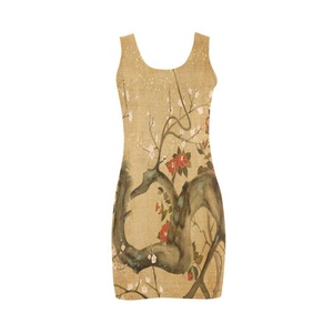 Abbie Miller Cool Japanese Women's Polyester Vest Dress Ivory