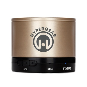 HyperGear Bluetooth/Wireless Speaker for All Smartphones - Retail Packaging - Gold