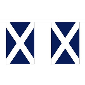 St Andrews (Navy Blue) Giant Bunting (30 Large Flags) 18.25M Scotland Scottish Flag by St Andrews (Navy Blue)