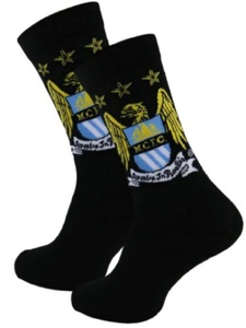 Manchester City F.C - Mens Socks Size 6 - 11 (1 Pair) by HDUK Mens Socks
