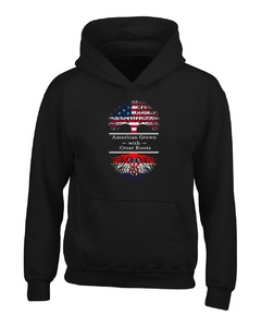 American Grown With Croat Roots Great Croatia Gifts - Adult Hoodie