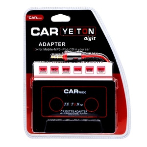 Car Audio Tape Cassette Adapter - For iPhone iPad iPod MP3 Player CD Radio nano, 3 Feet Long Cable 3.5mm Male Adapter Headphone Jack AUX 880