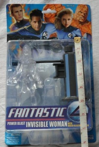 Fantastic 4 Power Blast Invisible Woman - Made by Toy Biz in 2005 by Fantastic 4