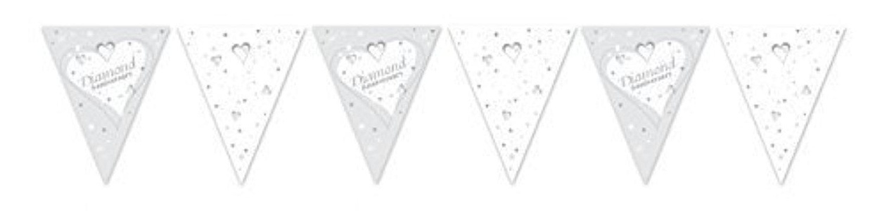 Diamond Anniversary Bunting by Party Bags 2 Go