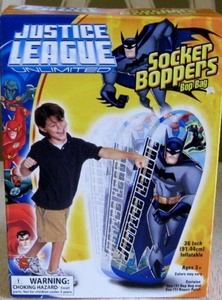 Justice League Unlimited Batman 36 Inflatable Socker Boppers Bop Bag by Wisconsin Toy