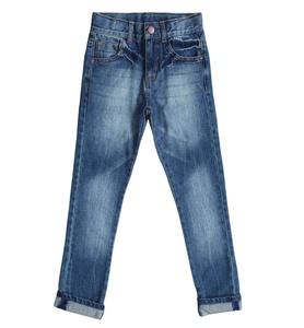 Bienzoe Little Boy's Cotton Adjustable Waist Slim Denim Pants Blue Jeans 7