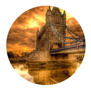 Bridge Of London England Rubber Gaming Mouse Pad Cover Round Mouse Pad 7.87