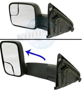 Dodge Ram 1500 2500 3500 02 - 09 Manual Mirror With Towing Package Lh by Discount Starter & Alternator