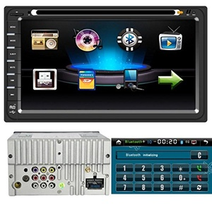 Leewos Support iPod Bluetooth Stereo DVD Player GPS Navigation Rearview AM / FM Double DIN 6.95 Inch Full Touch Screen Car Stereo