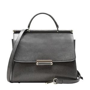 BICOLOR Women Vintage Genuine Leather Cross Body Bag Handbag-Grey