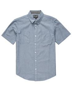 RETROFIT Luke Mens Chambray Shirt, Blue, Small