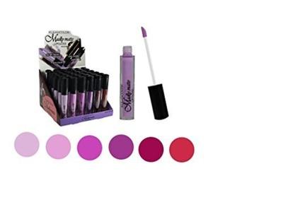 Set of 6 Colors Madly MATTE Lipgloss Bold & Vivid Color Matte Lipgloss Set #4 by Kleancolor