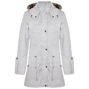 A2Z 4 Kids GIRLS COAT KIDS FLEECE PARKA JACKET LONG FAUX FUR HOODED FASHION COATS (7-8 Years, Grey)