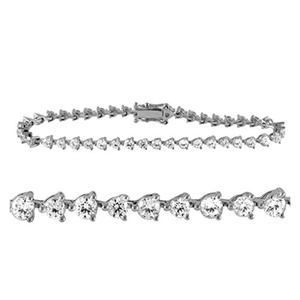 3.92 Carat (ctw) 10K White Gold Round Real Natural Diamond Tennis Bracelet for Girls Approx 7 Inches