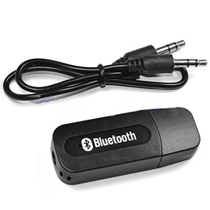 WENEWER MINI USB Bluetooth 3.5mm Stereo Audio Music Receiver & Adapter for Home Stereo/Portable Speakers/Headphones and More (Black)