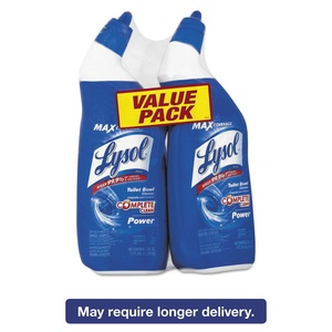 Lysol Power Toilet Bowl Cleaner Value Pack, 2 Count 7.38 x 2.50 x 10.38 Inches