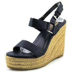 Callisto Mykonos Women Open Toe Synthetic Blue Wedge Sandal
