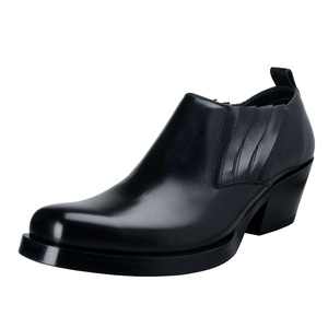 Versace Men's Black Leather Ankle Boots Shoes US 10.5 IT 43.5;